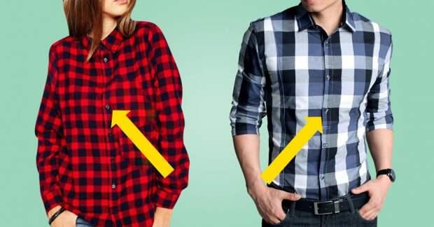почему у мужчин пуговицы справа, а у женщин — слева!