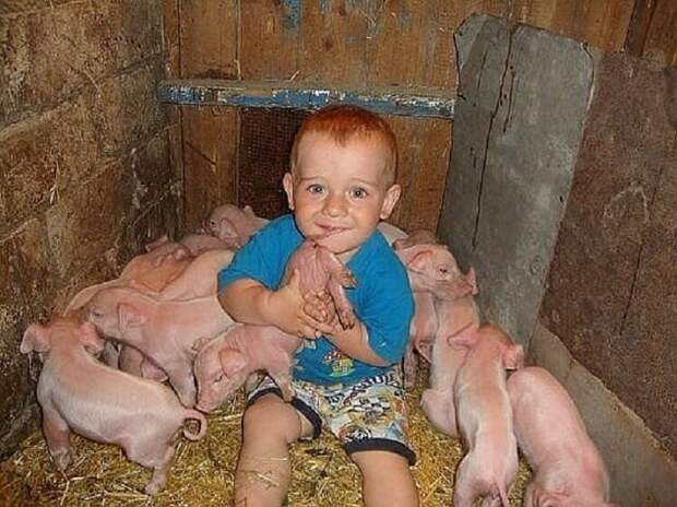 Детство деревенское. Подборка смешных и милых фото