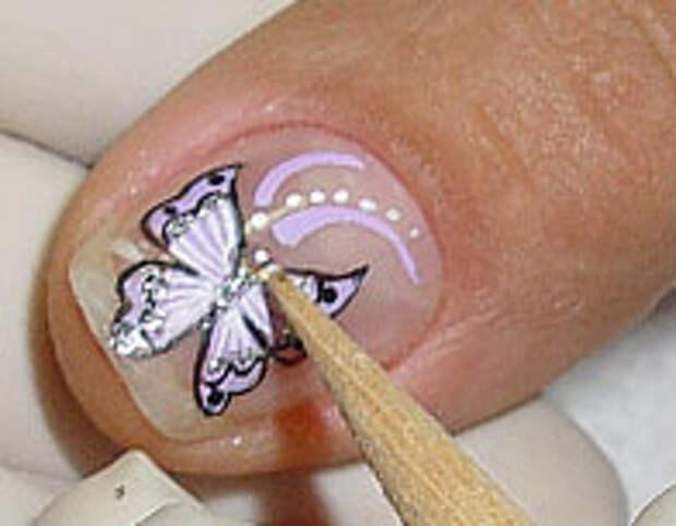 Как нарисовать бабочку на ногтях (18) (196x153, 27Kb)