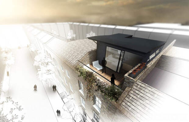 Проект террасы на крыше от Vorbild Architecture