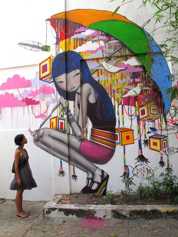 Уличные рисунки арт-хулигана Seth, Seth – это прозвище, а зовут автора Жюльен Мело (Julien Malland).