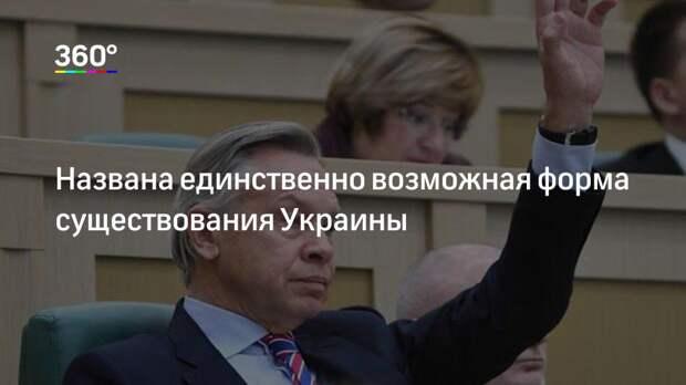 Названа единственно возможная форма существования Украины