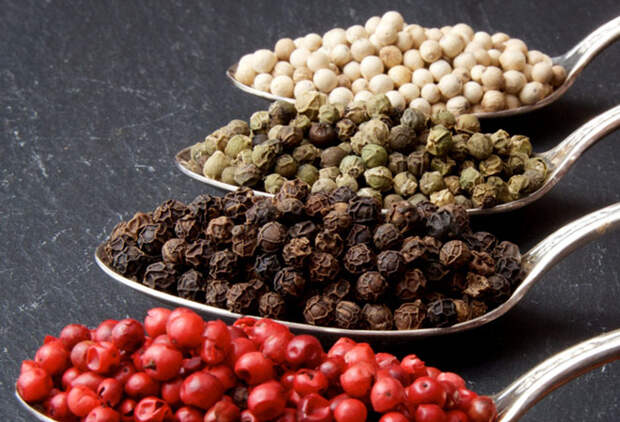 6 видов перца горошком из запасов поваров