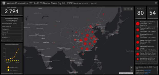 Теперь ты можешь смотреть онлайн, как коронавирус охватывает планету