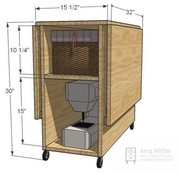 Как сделать стол для раскроя и шитья: рабочее место швеи 0