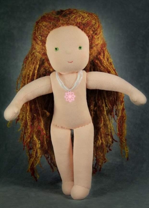 Вальдорфская кукла без одежды. Фото / Waldorf doll. Photo