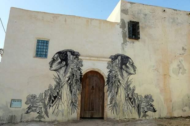 150 уличных художников из 30 стран, превратили старую деревушку Эр-Рияд в Тунисе в настоящую галерею под открытым небом (13)