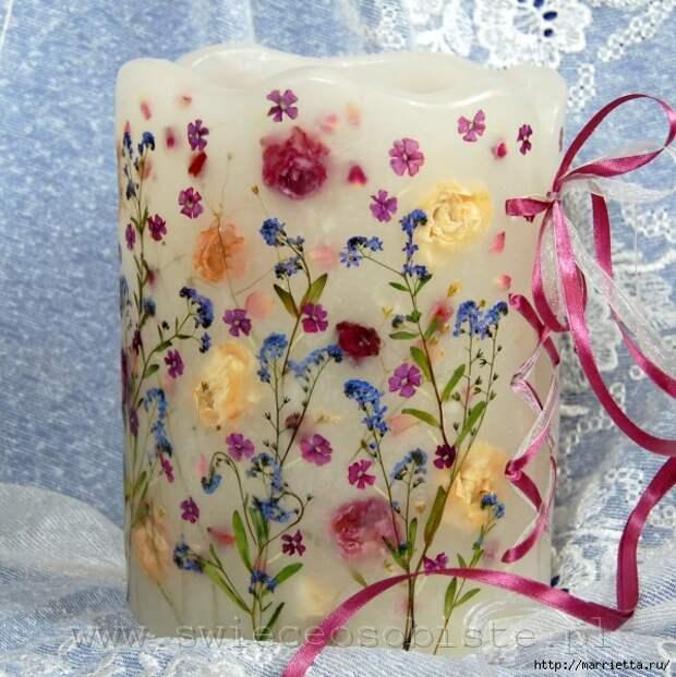 цветочные свечи ручной работы (80) (599x600, 263Kb)