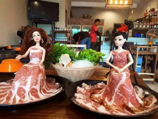 Есть мясное плато, а есть мясное платье.