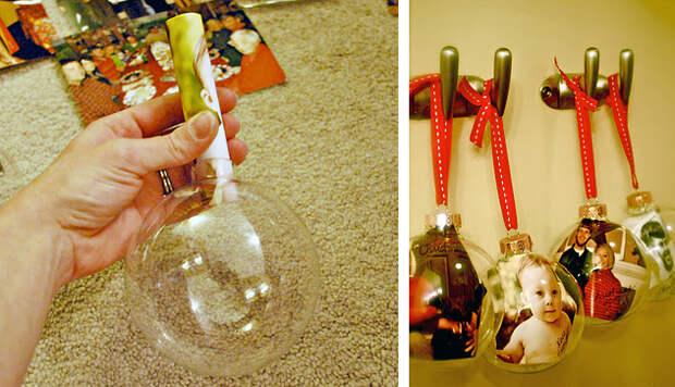 Елочные игрушки с фотографиями