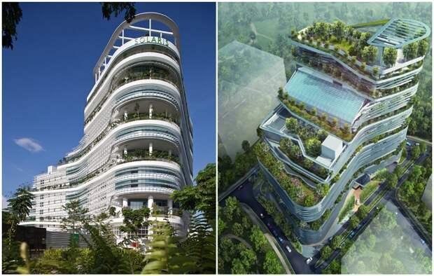 Научно-исследовательский бизнес-парк Solaris в Сингапуре (проект архитектора Ken Yeang). | Фото: hvoya.wordpress.com.