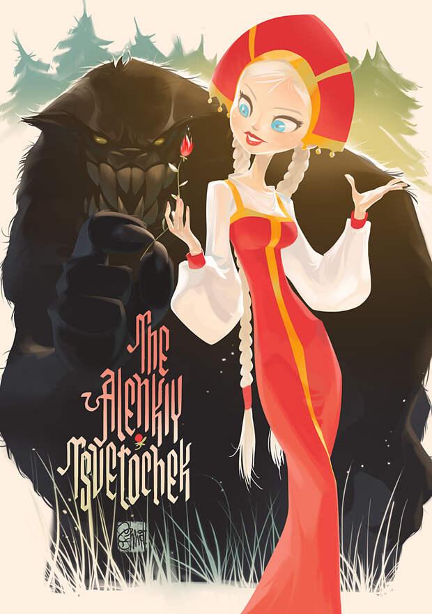 Красивые иллюстрации девушек от Евгения Шмидта