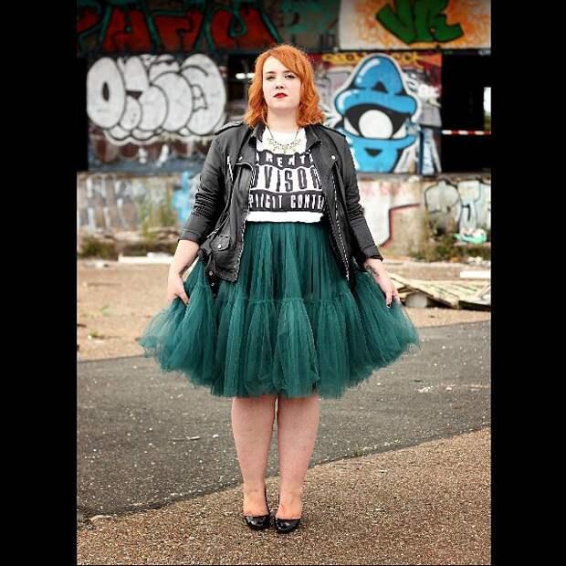 как и с чем носить юбку пачку с большим размером
