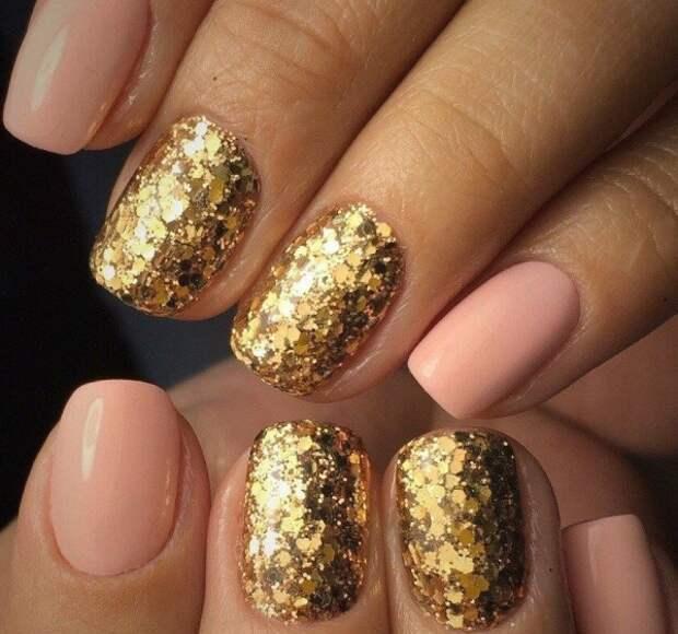 50 оттенков золота. Идеи роскошного маникюра на любые ногти
