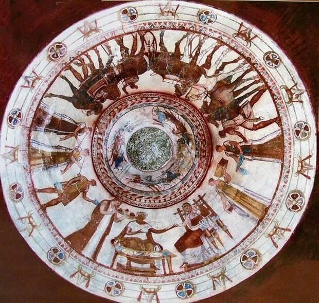 Роспись гробницы фракийского(гетского) царя. Конец IV века до н.э.