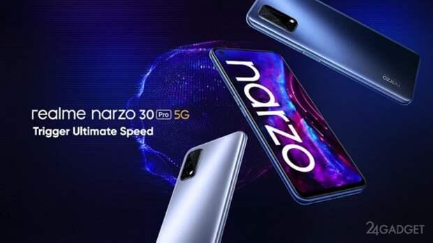 Realme презентовала недорогие смартфоны Narzo 30 Pro и Narzo 30A