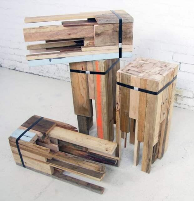 Барные стулья из вторичных материалов