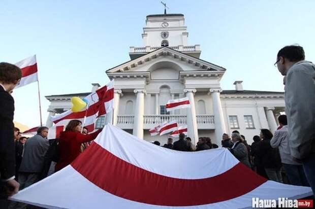 В Минске протестовали против военных баз России