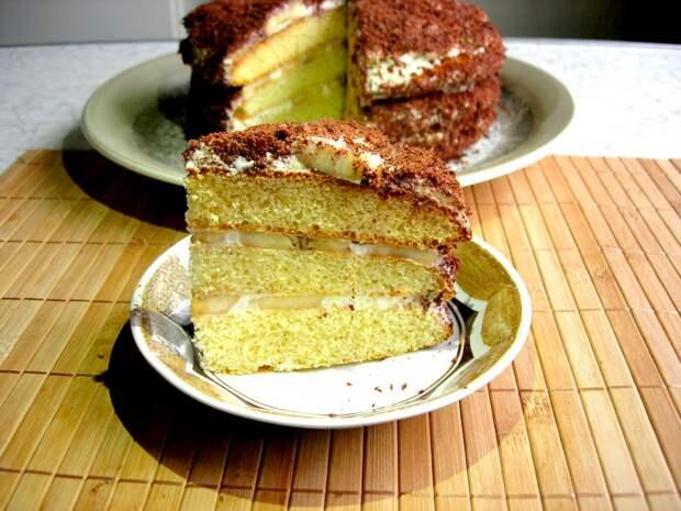 Торт «БАНАНОВЫЙ КАПРИЗ» - Нежный Крем и Вкуснейшие Коржи