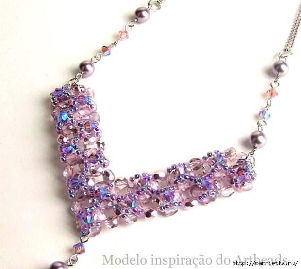 стильное ожерелье из бисера и кристаллов. мастер-класс (1) (550x493, 107Kb)