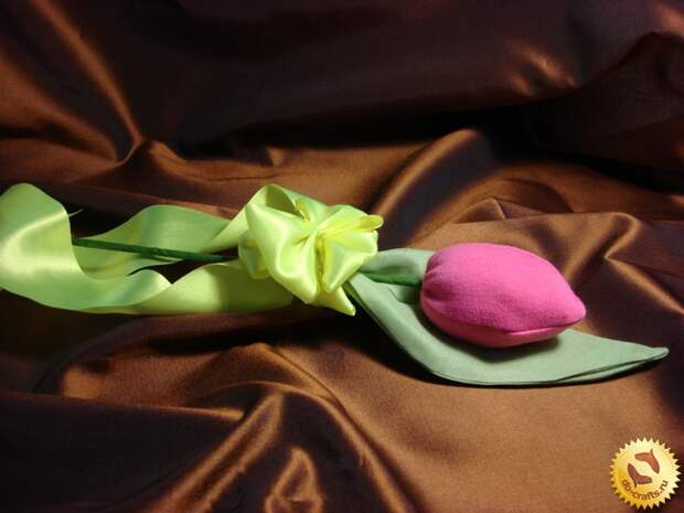Тюльпаны из ткани 28