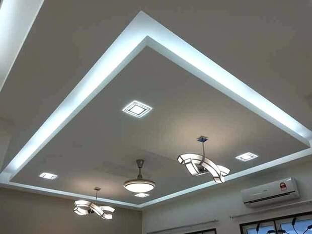 Потолок из гипсокартона в спальне: планировка, расчет денежных средств, идеи дизайна и оформления с фото
