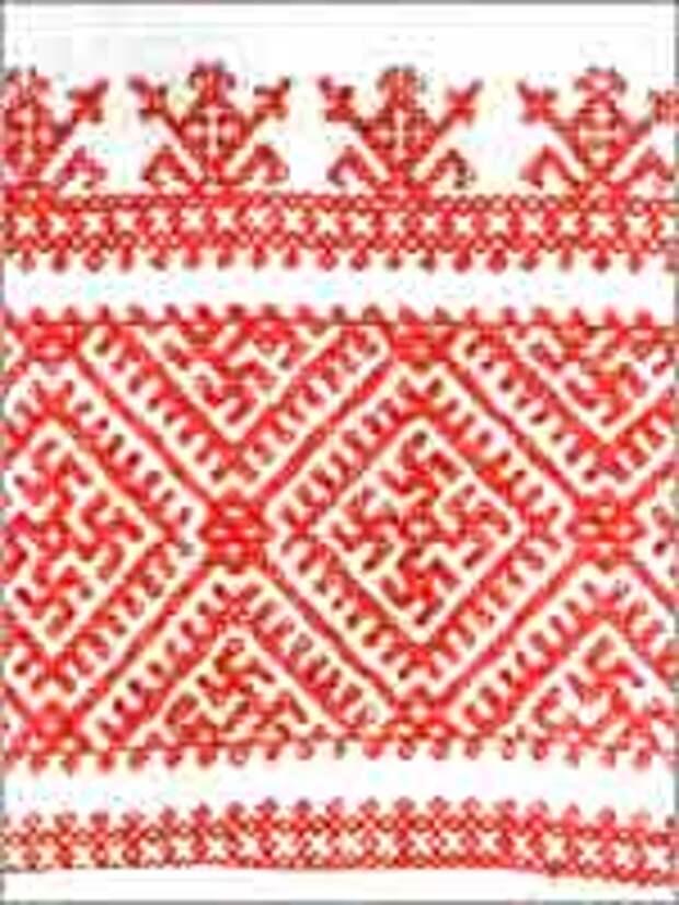 Свастика на Полотенце, середина XIX в. Харовский район