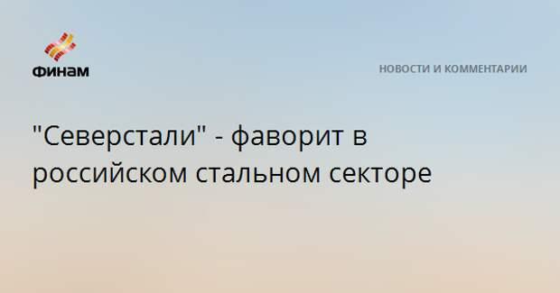 """""""Северсталь"""" - фаворит в российском стальном секторе"""