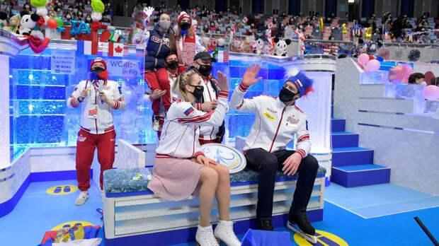 Российские фигуристы впервые выиграли командный чемпионат мира