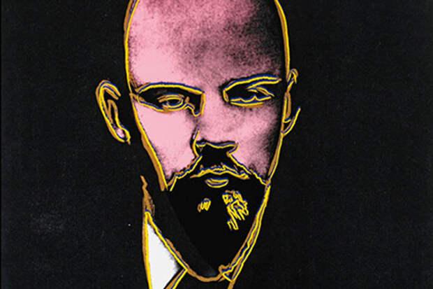 Фрагмент портрета Ленина работы Энди Уорхола