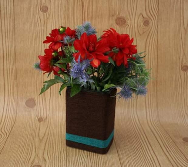 Идея вазы из коробки