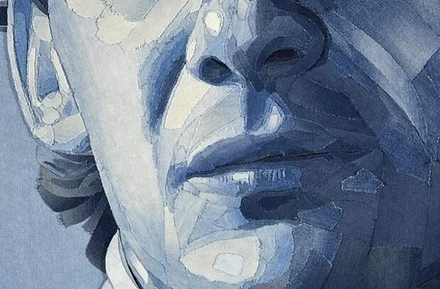 Джинсовый портрет Айртона Сенны