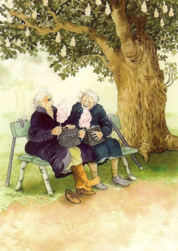 Теперь я знаю, как встречу старость рисунок, старость, позитив