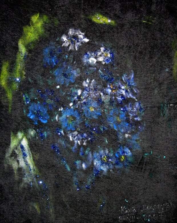 Цветы на бархате