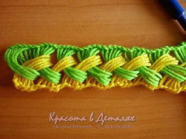 Яркий и необычный шарфик