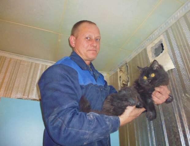 В Краснотурьинске спасли кота, пять дней просидевшего в вентиляционной шахте