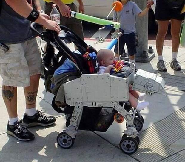 9. Для поклонников Звёздных войн. детские коляски, креатив, родители