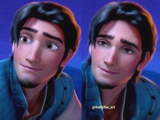 10 героев измультфильмов Disney сболее реалистичными лицами