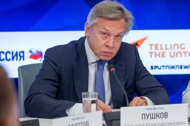 Пушков назвал наивными слова Столтенберга о вступлении Украины в НАТО