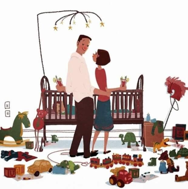 Маленькие радости: жизненные ситуации в иллюстрациях