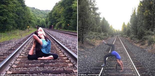 Самые популярные позы и места для йоги в сети Instagram в 2015 году