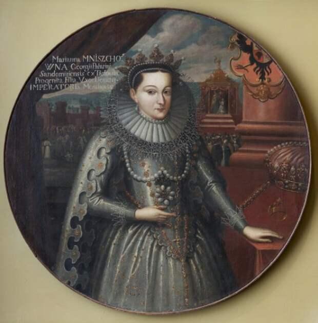 Портрет Марины Мнишек. Неизвестный художник. Первая половина XVII века