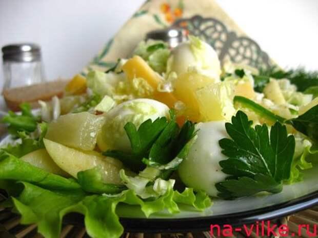 Салат из пекинской капусты с имбирно-коричной заправкой