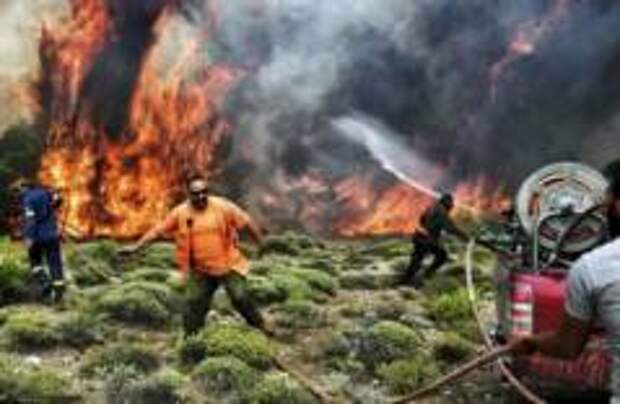 Премьер Греции прервал отпуск из-за пожаров в стране