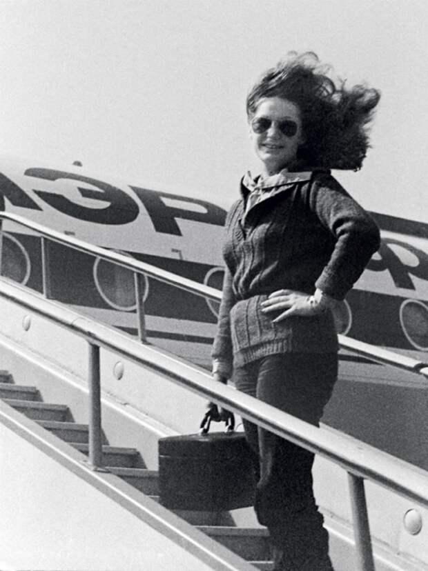 Алла Пугачева на гастролях, 1970-е.