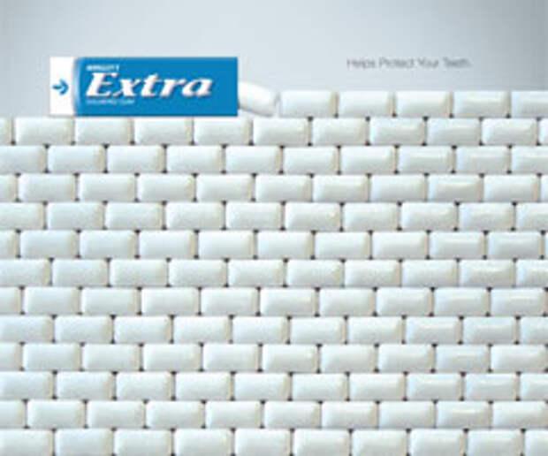 """Зубы за стеной Wrigley""""s Extra"""