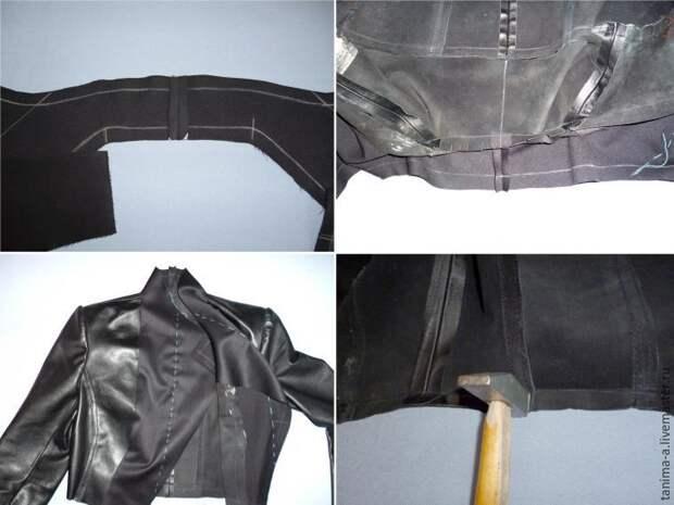 Преображение старой кожаной куртки в куртку с баской (Diy)