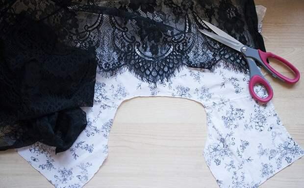 Переделка блузки (с кружевом) мастер-класс