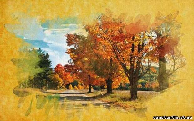 Фото с эффектом акварельного рисунка