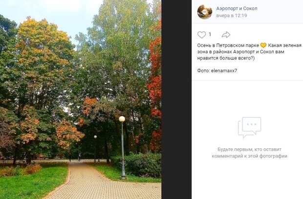 Фото дня: Петровский парк в осеннюю пору